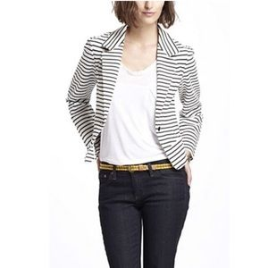 Cartonnier Striped Spinacker Ruffle Blazer/Jacket